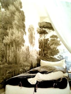 dormitorio grisaille
