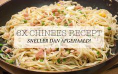 6x Chinees recept – sneller dan afgehaald!