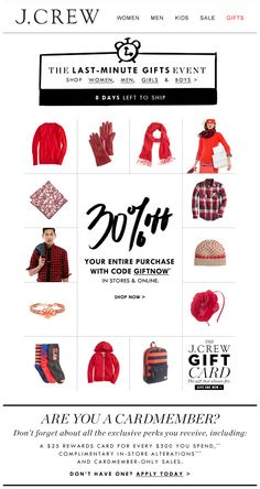 I am NOT prepared for Portland weather! A gift card for this store would be ama - Email Marketing Inspiration - - I am NOT prepared for Portland weather! A gift card for this store would be amazing! Email Marketing Design, E-mail Marketing, Marketing Software, Marketing Ideas, E-mail Design, Layout Design, Web Layout, Creative Design, Jcrew Gifts