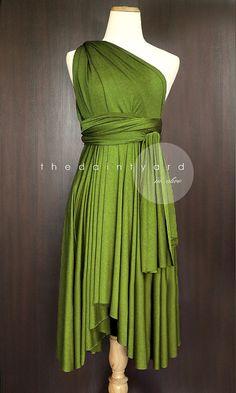 Olive Bridesmaid Convertible Dress Infinity Dress door thedaintyard