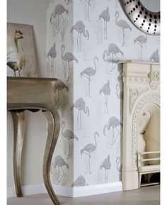 We've got thousands of wallpaper patterns to choose from. Whether you're looking for a bright feature wall, or a classic stripe, we have a wallpaper design for you Flamingo Wallpaper, Animal Print Wallpaper, Bird Wallpaper, Vinyl Wallpaper, Pattern Wallpaper, Vinyl Paper, Wonderwall, Luxury Vinyl, Designer Wallpaper