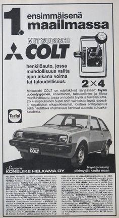 Paivan automainos Mitsubishi Colt Tekniikan Maailma 7 1979 Kuva CvB Maserati, Ferrari, Renault Nissan, Mitsubishi Colt, Daihatsu, Koenigsegg, Rolls Royce, Buick, Subaru