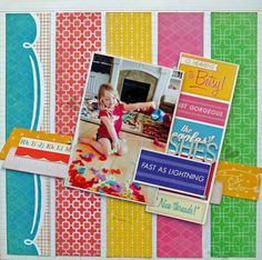 She's Fast featuring DCWV The Mod-Retro Stack and made for Novembers DCWV Stack-a-Holic Challenge.