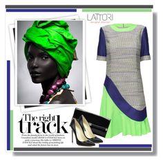 """LATTORI dress"" by water-polo ❤ liked on Polyvore featuring Lattori, GALA, Diane Von Furstenberg, Brian Atwood, polyvoreeditorial and lattori"