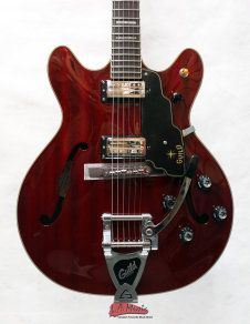 Guild Starfire V Electric Guitar with Bigsby Transparent Cherry Red Newark Serires 2013  Cherry Red