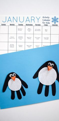 31 January Activities & Crafts for Kids (Free Activity Calendar) - The Chirping Moms
