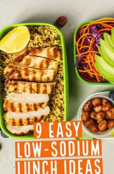 9 Easy and Delicious Low-Sodium Lunch Ideas - Try these low-sodium lunches to cut back on and have a healthy mid-day Low Sodium Soup, Low Sodium Diet, Meals Low In Sodium, Low Sodium Bread, Low Sodium Snacks, Low Carb, Low Salt Recipes, Low Sodium Recipes, Low Sodium Desserts