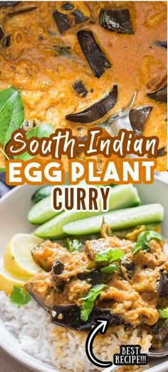 South Indian eggplant curry is easy to make vegan curry, full of amazing flavors! It has intense smoky flavors from eggplants roasted in pan. #curry #curryrecipes #eggplant #indiancurry #SouthIndian #eggplantcurry #vegan #recipes #easy #healthy #vegancurry #brinjal #aubergine