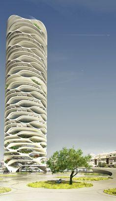 Hamarosan ez a futurisztikus felhőkarcoló díszítheti Tel-Aviv egét - 6. kép
