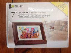 GiiNii 'All-in-One' digital picture frame One 7, All In One, Album, Photos, Pictures, Picture Frames, Digital, Ebay, Digital Photo Frame