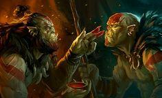 Original concept by Niall O'Reilly, Illustration by Denman Rooke & Niall O'Reilly - © Digit Game Studios High Fantasy, Fantasy Rpg, Medieval Fantasy, Fantasy World, World Of Warcraft Game, World Of Warcraft Characters, Fantasy Characters, Fantasy Inspiration, Character Inspiration