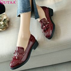 #aliexpress, #fashion, #outfit, #apparel, #shoes #aliexpress, #QUTAA, #Patent, #leather, #Women, #Pumps, #Square, #Tassel, #Pointed, #Platform, #Autumn, #Ladies, #Wedding, #Shoes