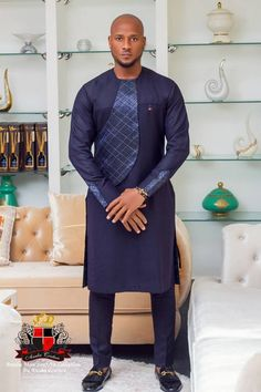 Nigerian label Anuba Couture presents to you its latest menswear fashion offering titled THE ANUBA MAN. African Shirts For Men, African Dresses Men, African Attire For Men, African Clothing For Men, African Wear, Nigerian Men Fashion, African Print Fashion, Mens Fashion, Fierce