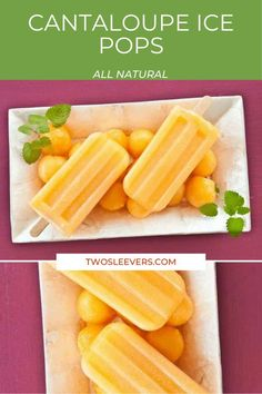 Few things say summer like fresh cantaloupe, but with the hot summer we're having I need something a bit cooler, like these Cantaloupe Ice Pops! They give you all the fresh cantaloupe flavor in the form of a delicious ice pop that'll help you beat the heat. Low Carb Sweets, Gluten Free Sweets, Low Carb Desserts, Frozen Desserts, Sugar Free Treats, Sugar Free Desserts, Keto Dessert Easy, Dessert Recipes, Easy Homemade Ice Cream
