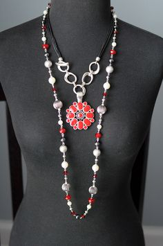 Premier Designs - Hot Hot Hot and Easy Living Necklaces Flip Side Enhancer