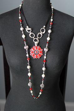 Premier Designs - Hot Hot Hot and Easy Living Necklaces Flip Side Enhancer