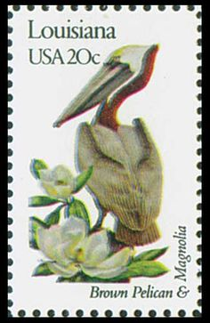 1982 20c Louisiana State Bird & Flower - Catalog # 1970 For Sale at Mystic Stamp Company