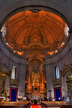 Inside the church of clergy, Porto.