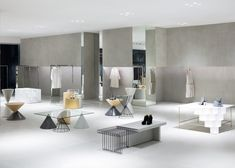 """A complete redevelopment plan, covering both interior and exterior design, for floors one to five of """"Siam Discovery"""" a large-scale retail complex in Bangkok, Thailand. Retail Interior, Interior Exterior, Siam Discovery, Nendo Design, Pretty Things, Design Japonais, Flooring Sale, Retail Store Design, Retail Shop"""
