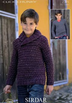 Sirdar--Boys' Sweaters (ages 2 - 13) - chunky knit - 6.5mm needles