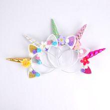 DIY Kids Unicorn Headband Glitter Hairband Rainbow Unicorn Horn Hairband unicorn Bonus for Party(China) Rainbow Unicorn, Unicorn Party, Knitted Mermaid Tail Blanket, Unicorn Headband, Easter Party, Diy For Kids, Horns, Baby Shower Gifts, Party Favors