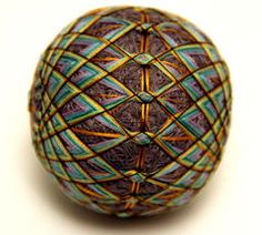 Temari balls made out of thread