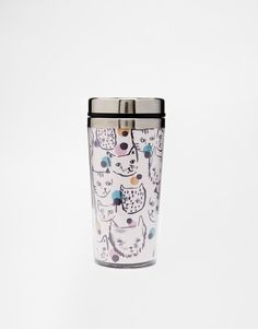 Paperchase   Paperchase Polka Cat Insulated Cup at ASOS
