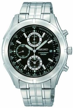 Seiko Men's SNDC37 Chronograph Watch Seiko. $149.00. Hardlex crystal. Silver-tone chronograph. Date. Black dial. Water-resistant to 100 M (330 feet). Save 44%!