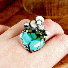 Turquoise Corsage Ring by louiseodwyerdesigns