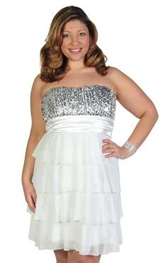 plus size multi tiered ruffled party dress