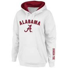 Alabama Crimson Tide Stadium Athletic Women's Arch & Logo Pullover Hoodie - White