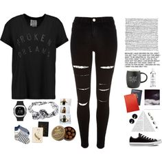 eyes on you by dearcamilla on Polyvore featuring polyvore, fashion, style, Zoe Karssen, River Island, FiveLo, Converse, adidas Originals, NIKE, Topshop, Kiehl's, Printable Wisdom, Rifle Paper Co, Charbonnel et Walker and Polaroid