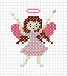 Fairy Cross Stitch FREE Pattern.    Link To Pattern http://www.countrycrossstitchkits.co.uk/free-patterns/900-01-15-Twinkle-the-Fairy.pdf