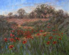 """Through Flowers"" - Original Fine Art for Sale - © by Elaine Monnig"