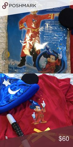 Mickey Mouse Fantasia Costume Brand new never worn.  Didn't fit my son.  Store wouldn't take back. Costumes Halloween