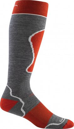 Padded Over-the-Calf Cushion / Gray/Red / M Medium