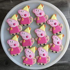Peppa Pig Cookies / galletas de cumpleaños del cerdo del Peppa
