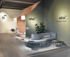 MM Company per Sitia. Showroom Interior Design, Furniture Showroom, Furniture Design, Furniture Removal, Office Furniture, Bar Design, Design Studio, Booth Design, Office Wall Design