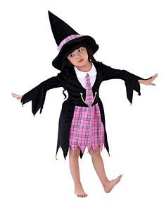 Halloween Costume For Kids Witch Costume For Halloween Girls Vampire Children Cosplay Child Party Witch Fancy Dress Hat Girl Bright And Translucent In Appearance Novelty & Special Use
