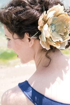 Love the hair! Wish the flower was smaller... :P :)