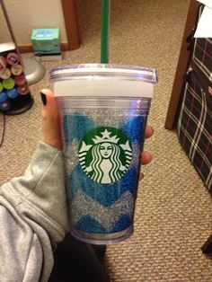 DIY glitter cup