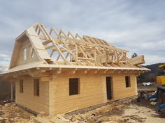 Roubenka Klasik | Roubenky Zeman Timber Frame Homes, Log Homes, Pergola, Outdoor Structures, House Styles, Home Decor, Timber House, Woodwind Instrument, Houses