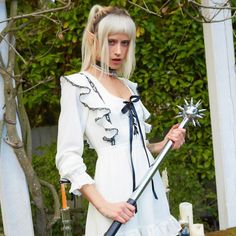 Online Boutique for the Misfits & Miss Legits | Dolls Kill Underground Clothing, Lace Babydoll, White Mini Dress, Kawaii Fashion, Lace Trim, Contrast, Clothes, Misfits, Dolls