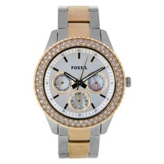 Fossil Women`s ES2944 Two Tone Stainless Steel Analog with Silver Dial Watch $86.85