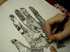 time lapse hand drawing