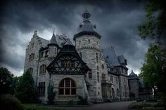 Old abandoned mansion on Germany