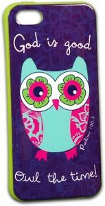 Cherished Girl God Is Good Owl Cell Phone Case for iPhone 5 5S by Kerusso www.Gods411.org