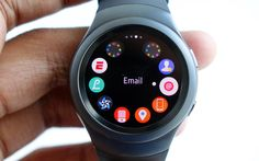 Samsung Gear S2 smartwatch. Selling in October for €349 sport version & €399 classic version
