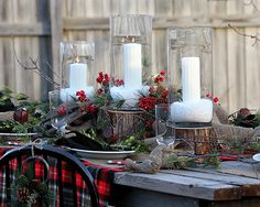Wordly Winter...this table setting makes me in the mood for a cup of mulled wine