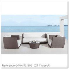 1 927,95 € - Giardino Rattan Set in nero con bianco AC221DJ Cuscini. Mobili da terrazza e spiaggia: Imposta terrazzo rattan. Tavoli e Sedie